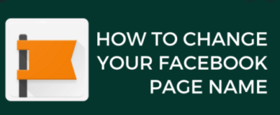 how to chang your Facebook page name