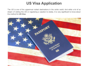 Visa application for the US